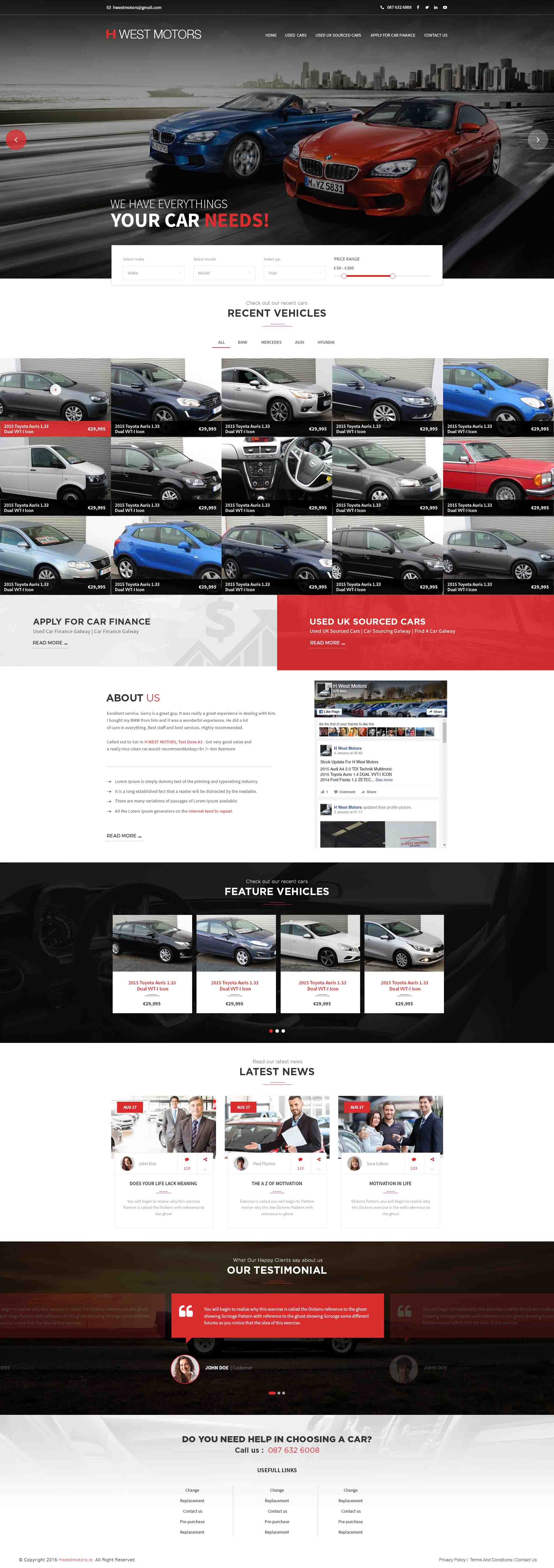 incipit solutions autovichles website design